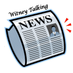 WTN Logo - depicts a symbolised newspaper wtih talking head.