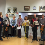 Eynsham Ukulele Group entertain WTN volunteers at the volunteers' social gathering October 2017.