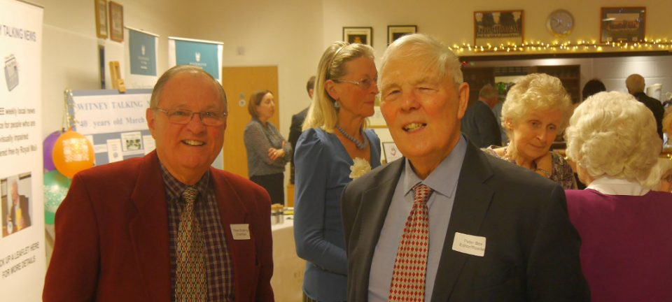 Chairman, Peter Brading, and Secretary, Peter Bee, at the opening of the event.